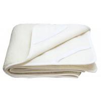 Podkład wełniany na materac 180x200 dla seniora runo owcze