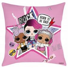 Poduszka dziecięca LOL laleczki 40x40 różowa rock