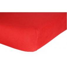 Prześcieradło frotte bawełniane z gumką 160x200 grube czerwone