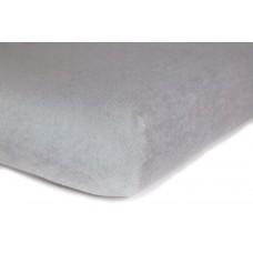 Prześcieradło frotte bawełniane z gumką 140x200 grube siwe