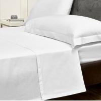 Prześcieradło bawełniane hotelowe 160x220 białe