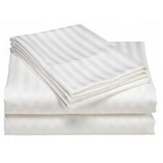 Prześcieradło bawełniane hotelowe 160x230 białe adamaszek
