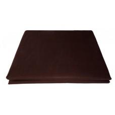 Prześcieradło bawełniane klasyczne 160x210 brązowe ciemne