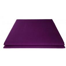 Prześcieradło bawełniane klasyczne 160x210 fioletowe