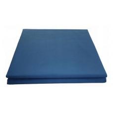 Prześcieradło bawełniane klasyczne 160x210 niebieskie