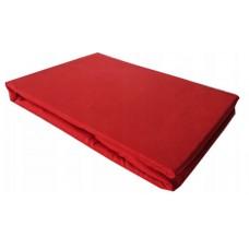 Prześcieradło z mikrifibry klasyczne 160x220 czerwone