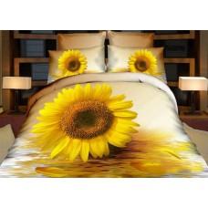 Pościel 3D rozmiar 160x200 3-częściowa wzór 236-10 kwiaty