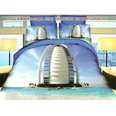 Pościel 3D rozmiar 160x200 3-częściowa wzór 237-4 miasto