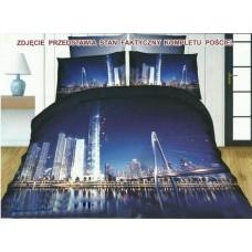 Pościel 3D rozmiar 160x200 3-częściowa wzór 237-8 miasto