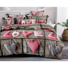 Pościel dla zakochanych 160x200 love w serca wzór 6
