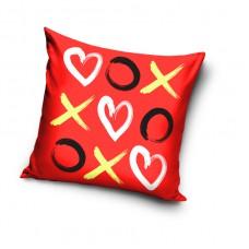 Poduszka ozdobna 40x40 serce dla zakochanych pocałunki VAL183028