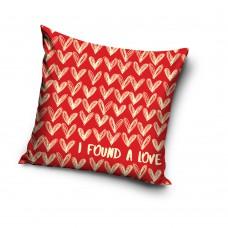 Poduszka ozdobna 40x40 serce dla zakochanych pocałunki VAL185001