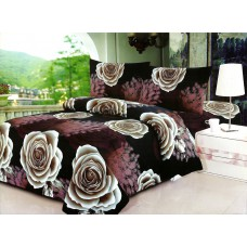 Pościel 3D rozmiar 160x200 4-częściowa kwiaty CW-FSH1604-13 róże