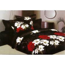 Pościel 3D rozmiar 160x200 4-częściowa kwiaty CW-FSH1604-15 róże