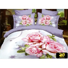 Pościel 3D rozmiar 160x200 4-częściowa kwiaty CW-FSH1604-9 róże