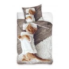Pościel dziecięca bawełniana 140x200  2-częściowa kotek Best Friends NL181306