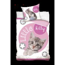 Pościel dziecięca bawełniana 160x200  2-częściowa kotek Best Friends NL203019A