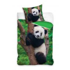 Pościel dziecięca bawełniana 160x200  2-częściowa panda Best Friends NL195020