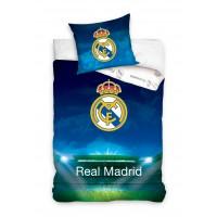 Pościel dziecięca satyna bawełniana 160x200  2-częściowa piłkarska Real Madryt RM6003