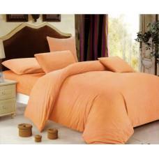 Pościel hotelowa w pasy 160x200 Adamaszek pomarańczowa