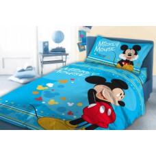 Pościel polarowa dziecięca 160x200 dwustronna  bajkowa Disney myszka Mickey