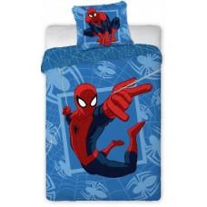 Pościel polarowa dziecięca 160x200 dwustronna  bajkowa Disney Spiderman