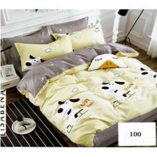 Pościel dziecięca satyna bawełniana 140x200  2-częściowa wzór 100