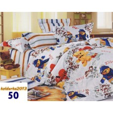 Pościel dziecięca satyna bawełniana 160x200  3-częściowa wzór 50