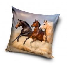 Poszewka na poduszkę dziecięca efekt 3D wymiary 40x40 konie PNL191323