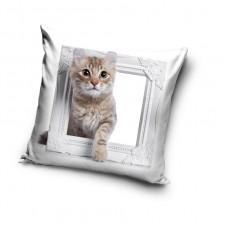 Poszewka na poduszkę dziecięca efekt 3D wymiary 40x40 kot PD181030