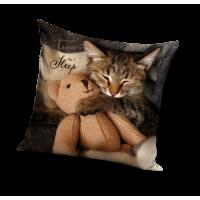 Poszewka na poduszkę dziecięca efekt 3D wymiary 40x40 koty PD191056