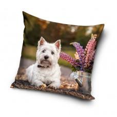Poszewka na poduszkę dziecięca efekt 3D wymiary 40x40 psy PNL201045