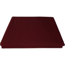 Prześcieradło bawełniane klasyczne 160x210 bordowe