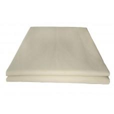 Prześcieradło bawełniane klasyczne 160x210 ecru