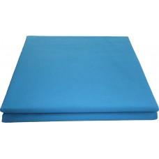 Prześcieradło bawełniane klasyczne 200x220 niebieskie
