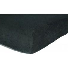 Prześcieradło frotte bawełniane z gumką 140x200 grube czarne