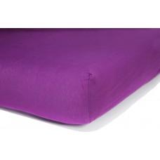 Prześcieradło z gumką do łóżeczka dziecięce 60x120 frotte fioletowe