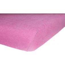 Prześcieradło z gumką do łóżeczka dziecięce 60x120 frotte różowe