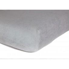Prześcieradło z gumką do łóżeczka dziecięce 60x120 frotte siwe