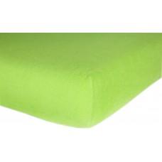 Prześcieradło z gumką do łóżeczka dziecięce 60x120 frotte zielone jabłuszko