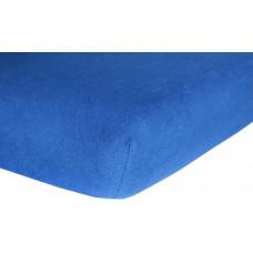 Prześcieradło z gumką do łóżeczka dziecięce 80x160 jersey niebieskie ciemne