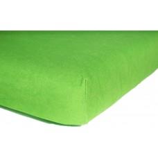 Prześcieradło z gumką do łóżeczka dziecięce 80x160 jersey zielone