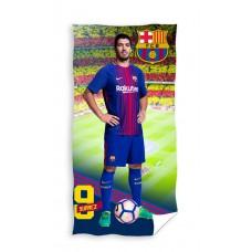 Ręcznik dziecięcy kąpielowy licencyjny 70x140 FC Barcelona wzór 100