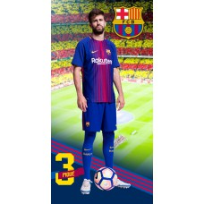Ręcznik dziecięcy kąpielowy licencyjny 70x140 FC Barcelona wzór 101