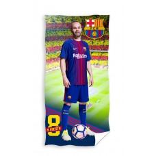 Ręcznik dziecięcy kąpielowy licencyjny 70x140 FC Barcelona wzór 102