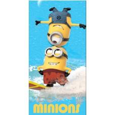 Ręcznik dziecięcy kąpielowy licencyjny 70x140 minions wzór 93