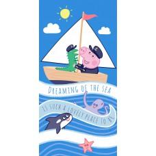 Ręcznik dziecięcy kąpielowy licencyjny 70x140 peppa wzór 94