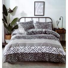 Pościel dziecięca 140x200  2-częściowa tania kremowa zebra