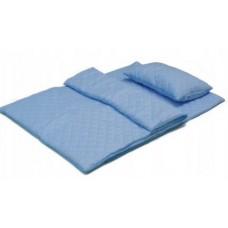 Zestaw 2 kołdry antyalergiczne 100x135 + poduszka 40x60 niebieska