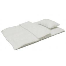 Zestaw 2 kołdry antyalergiczne 100x135 + poduszka 40x60 biel